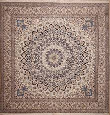 new square area rugs for persian naeen white 9 ft and larger wool carpet 11287