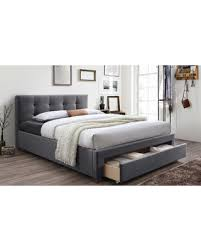 upholstered platform bed king. Contemporary King Baxton Studio Brandy Fabric Upholstered King Size Storage Platform Bed Grey In Bed S