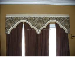 for these cornice boards i used brown kraft paper to design a shape for the window treatment and transferred the shape to the plywood