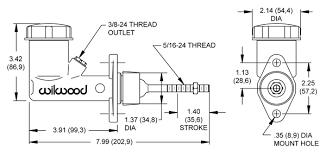 Garage Sale Wilwood 260 1304 Clutch Small Brake Master Cylinder