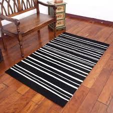 black and white striped area rug from peru 3 5x5 5 peruvian hearth