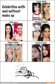 you guys are so beautiful with and without makeup ment like or