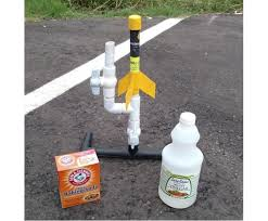 picture of pvc rocket with vinegar and baking soda fuel
