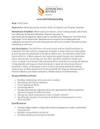 Office Intern Job Description 24 Fall Field Internship Job Description24 INTA Undergraduate 1
