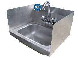 com stainless steel hand sink with side splash nsf commercial equipment 12 x 12 scientific