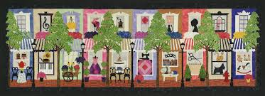 The Shop Ladies Fusible Applique Wall Quilt Pattern by Sue Pritt & The appliqué motifs are arranged so they can be easily transferred to  fusible applique webbing such as Steam-a-Seam or Heat-n-bond. Adamdwight.com
