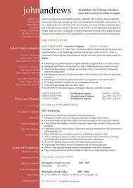 Manager Resume Template Custom Sales Manager CV Template Purchase