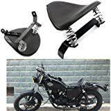 amazon com motorcycle fans black leather solo seat t bar torsion
