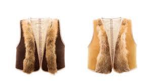 ugg australia sheepskin fox cropped vest