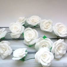 White Paper Flower Garland Best Crepe Paper Roses Products On Wanelo