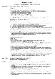 Power Resume Sample Power Plant Resume Samples Velvet Jobs 14