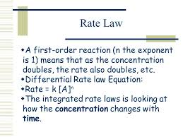 4 rate law a first order