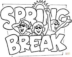 Printable Spring Coloring Spring Color Sheets Spring Break Coloring