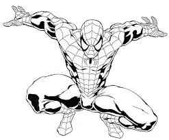 Spider Man Color Page Free Printable Spiderman Coloring Pages For