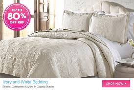 deairect ivory and white bedding up to 80 off rrp classica diamond stone cookware bed bath curtain clearout bonds jockey berlei last