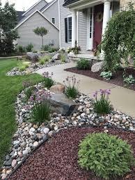 Drought Tolerant Front Yard Landscape Design New Front Curb Appeal Rock Garden Design Backyard