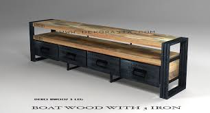 recycled wooden furniture. BOAT FURNITURE TV CABINET - DEKO 007 L Recycled Wooden Furniture