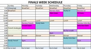 week time schedule template creating a study schedule for exam time