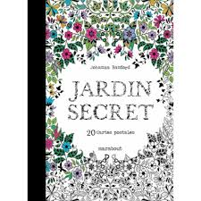 Jardin Secret 20 Cartes Postales Detachables A Colorier Livre L L L L L