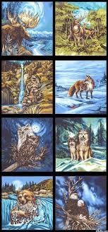 170 best Wild Animals images on Pinterest | Wild animals, Fabric ... & North American Wildlife 3 - Menagerie - Quilt Fabrics from www.eQuilter.com Adamdwight.com