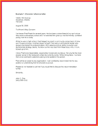 Personal Character Letter Samples Personal Reference Letter For Apartment Showmypc Info