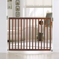 munchkin extending wood safety gate brown amazonca baby