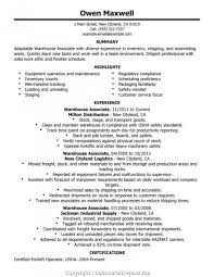 Sample Warehouse Worker Resume Best Warehouse Worker Resume Warehouse Job Resume Sample Warehouse 1