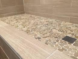 Tiles, Tile Shower Floor Ideas White Pebble Shower Floor Bathroom Tile  Showers Tiled Showers: