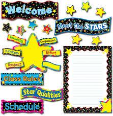 Star Student Chart Back To School Stars Bulletin Board Set Ctp4040