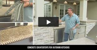 Outdoor Kitchen Countertop Outdoor Kitchens Design Ideas And Pictures The Concrete Network