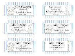 coupon templates word gift coupon template word