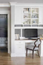desk in kitchen. Interesting Kitchen Lovely Kitchen Features A Builtin Desk With Wood Top Under Inset Black And  White Geometric Pin Board Overhead Cubbies Shelves Along Gray  And Desk In Kitchen