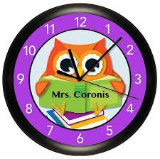 colorful owl teacher classroom wall