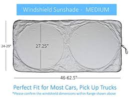 Sunshade Size Chart Windshield Sun Shade Suv Car Size Chart With Your Vehicle Universal Quality 210t Keep Vehicle Accessories Cool Uv Sun And Heat Reflector Sunshades