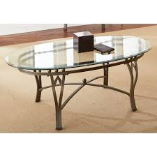 maison glass top oval coffee table furniture end modern