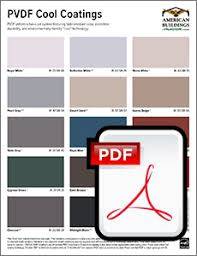 Cool Life Paint Color Chart Pvdf Cool Colors American Buildings