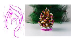Pine Cone Christmas Decorations Morena Diy How To Make Pine Cone Christmas Trees Youtube