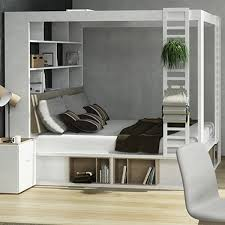 Vox 4you <b>King</b> 4 <b>Poster</b> Bed With Storage & Shelves In White - Vox ...