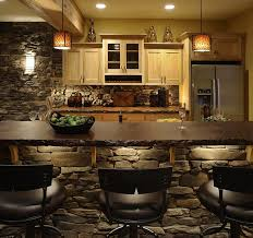 highlight lighting. Simply Kitchen Island Stone With Beautiful Lighting Fixtures And Elegance Highlight Ideas Textured Wood Cabinets Black Bar Stools Back