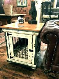 custom wood dog crates end table pet wooden crate built angeloro with tables plan 9