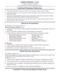 Incredible Decoration Pharmacy Technician Job Description For Resume