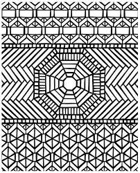 Small Picture Traditional Pattern Mandala Mosaic Coloring Page Download