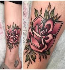 Desirable Dusty Rose Tattoo Triangle Tattoos Aquarius Flower Tattoos