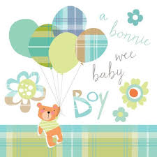 Congratulations On Your Baby Boy Congratulations Of Your Baby Boy Card Bonnie Wee Baby Scotlands