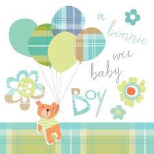 Congratulations For A Baby Boy Congratulations Of Your Baby Boy Card Bonnie Wee Baby