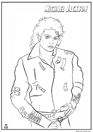 Small Picture Famous People coloring pages Michael Jackson 01