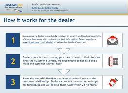road loan com preferred dealer network better leads better results a smarter