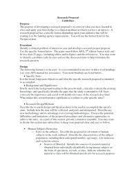 Memo Proposal Format Research Paper Proposal Template Topic Proposal Format