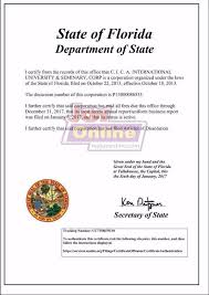 two letters from the government of state of florida