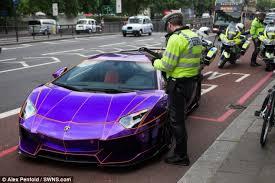 lamborghini aventador dragon edition purple. supercar police stopped the driver of 350000 lamborghini aventador in knightsbridge london dragon edition purple f